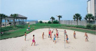 Oceanfront Beach Volleyball Court