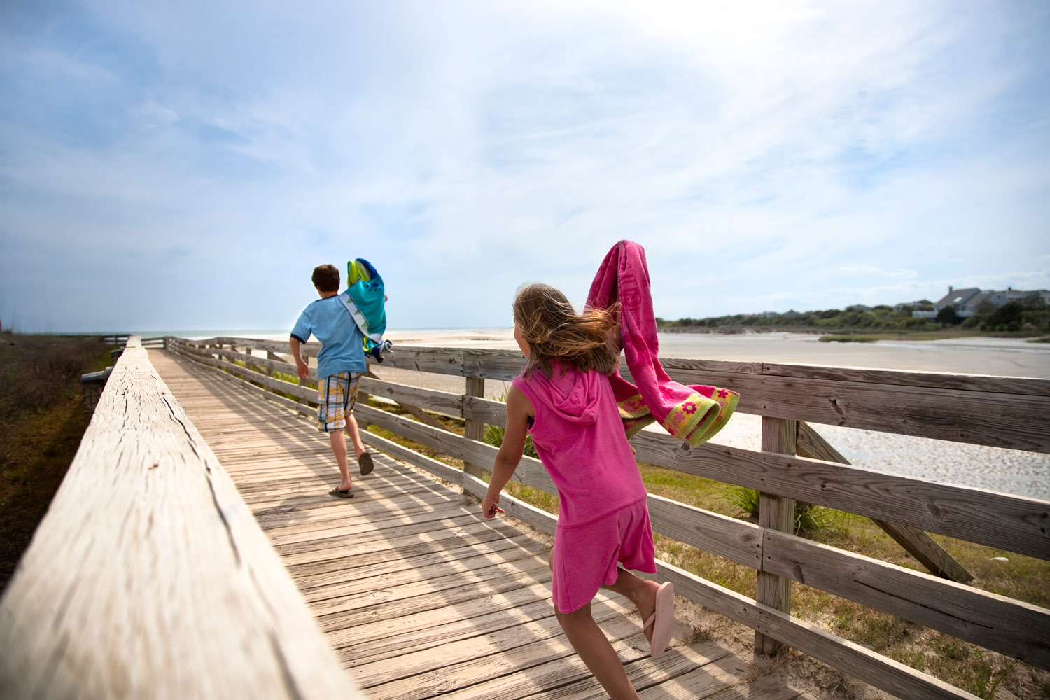 Ocean Creek Resort provides easy access to the beach.