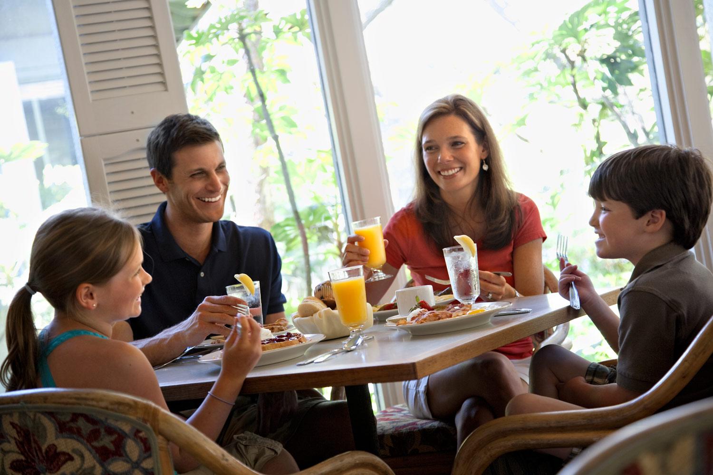 Grab breakfast at the Four Seasons Restaurant.