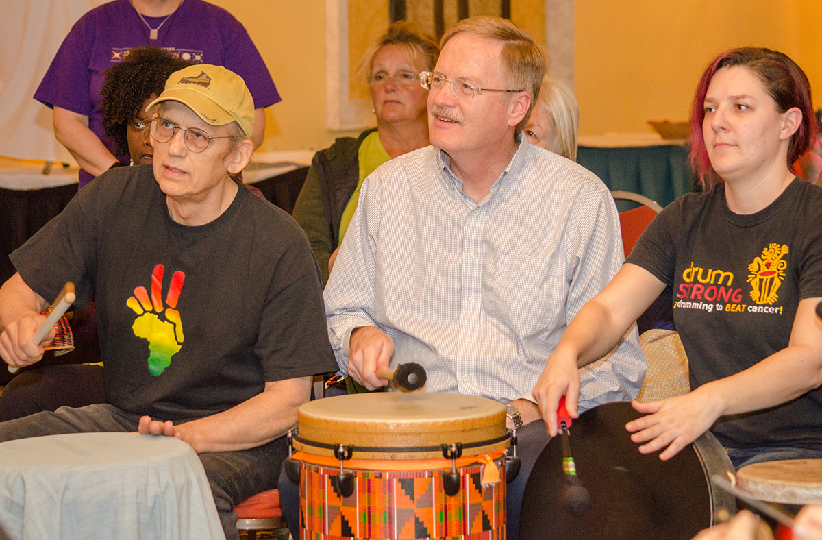 The community drum circle is just one of the many annual events held at Ocean Creek Resort.