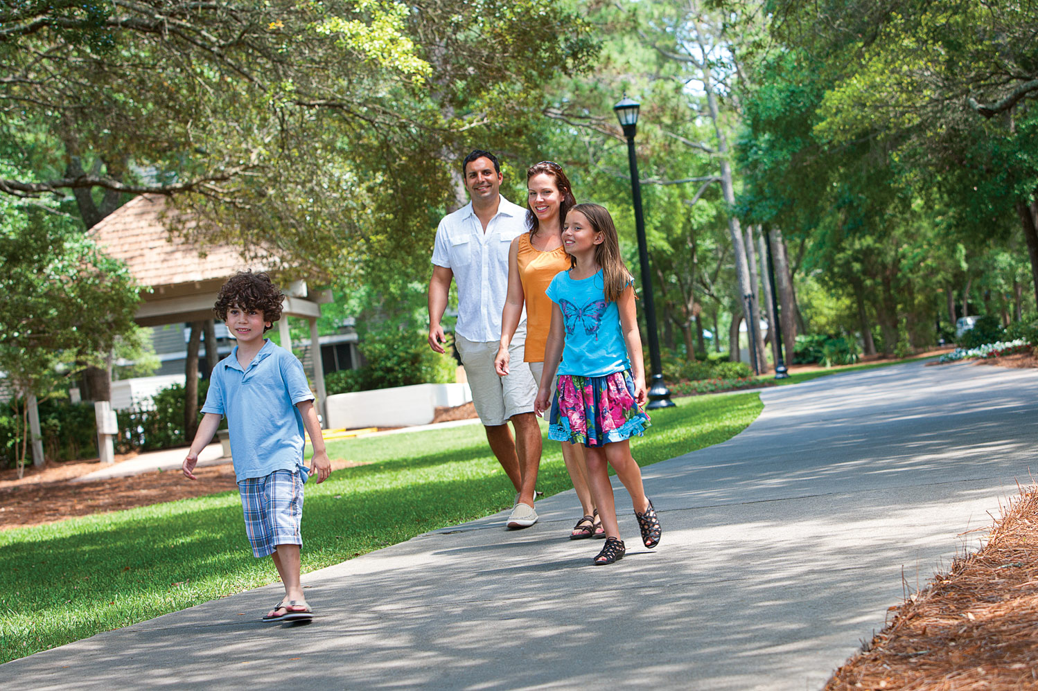 Enjoy walking trails throughout the 57-acre property.