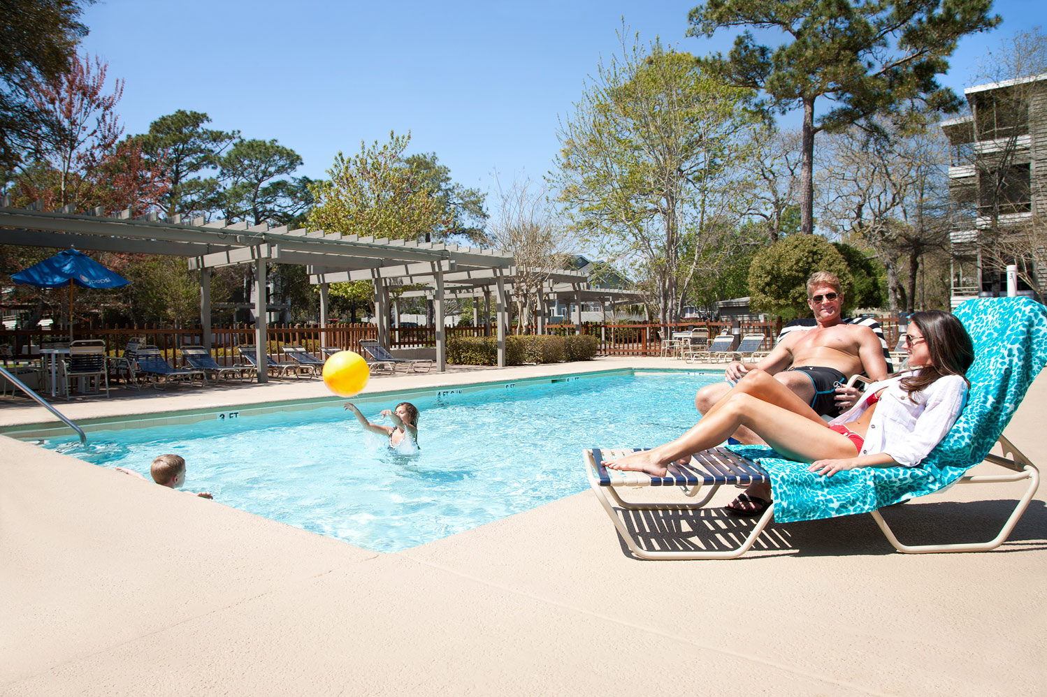 The Lodge Pool is fun for a family afternoon in the sun!