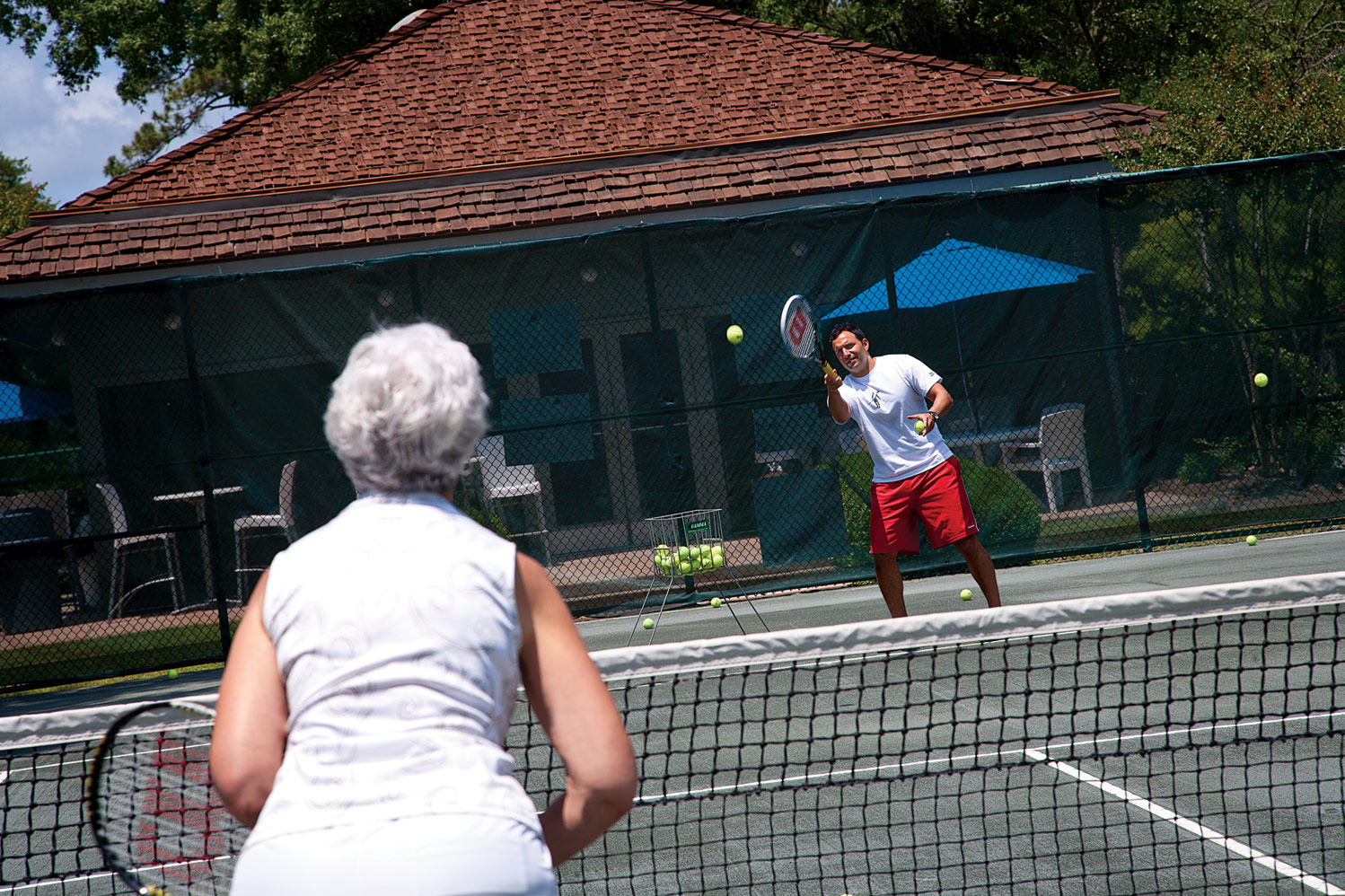 Get in a game of tennis at the Ocean Creek Tennis Center.