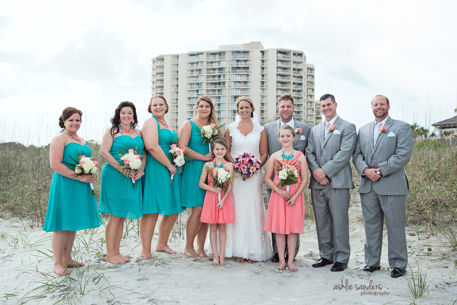 Wedding Party at Ocean Creek Resort in Myrtle Beach