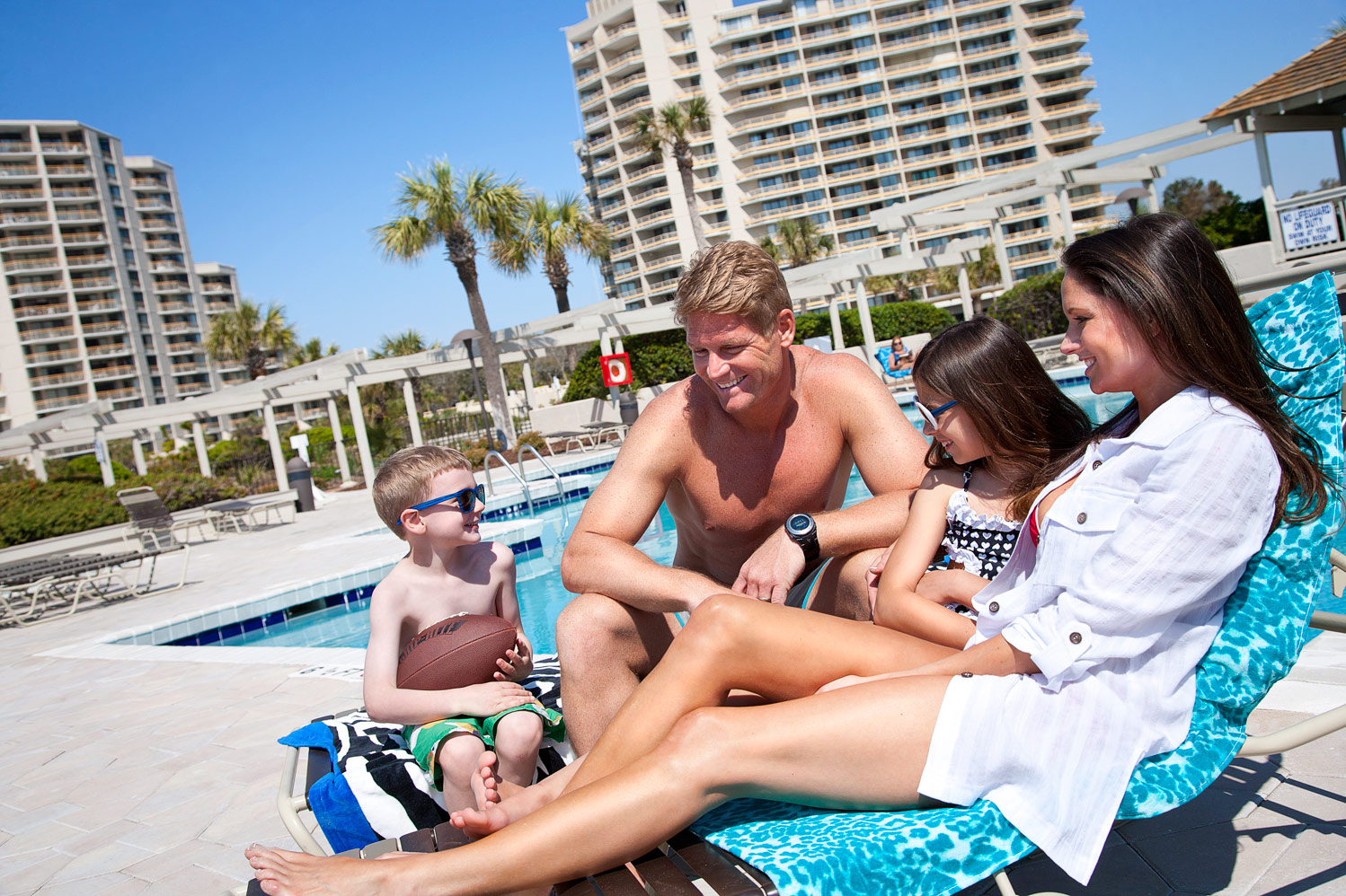 Relax poolside and have some fun at Ocean Creek Resort!